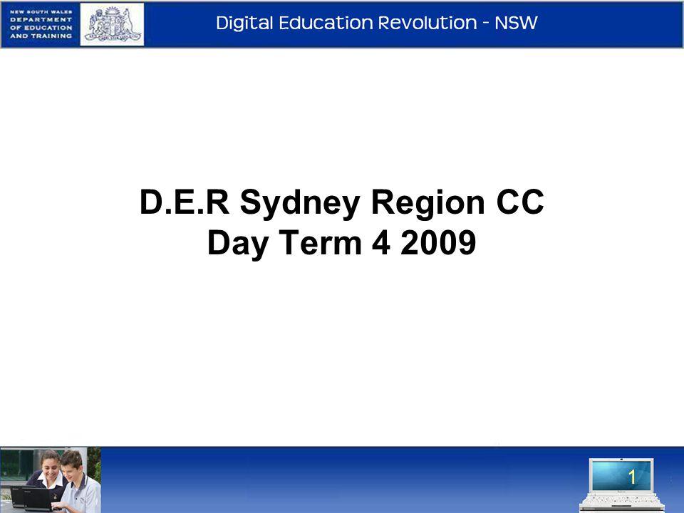 1 D.E.R Sydney Region CC Day Term 4 2009