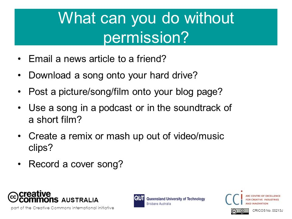 What can you do without permission. Email a news article to a friend.