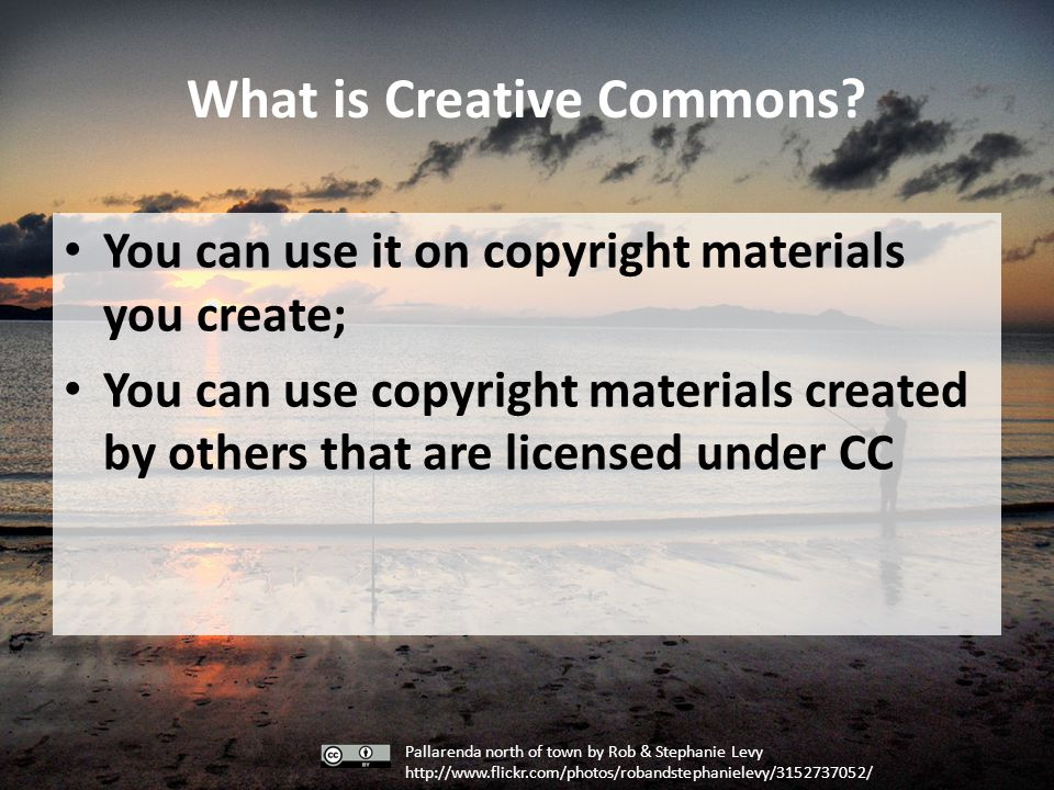 What is Creative Commons.