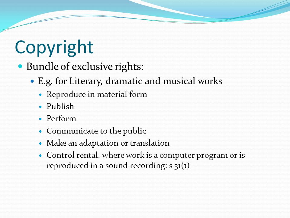 Copyright basics In Australia, copyright can be effectively enforced (civil and criminal remedies for infringement) As a result, the consequences of infringement will deter use/reuse unless it is clear that the use is permitted Importance of clear statement of permitted uses – to avoid infringement