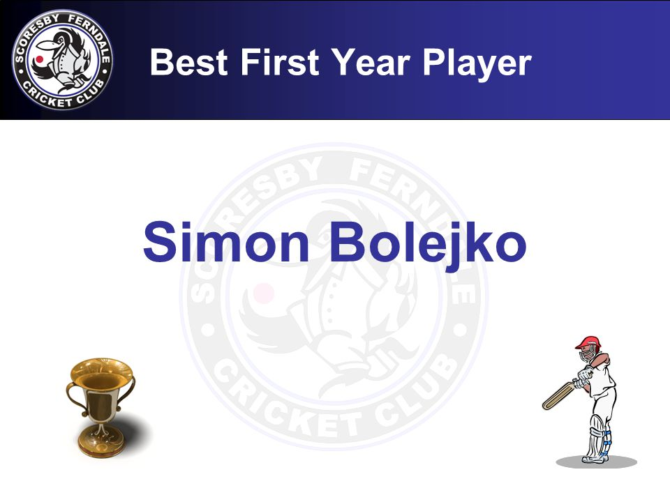 Best First Year Player Simon Bolejko