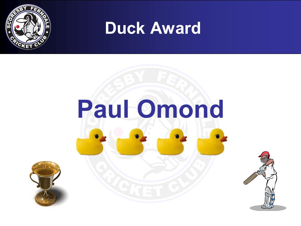 Duck Award Paul Omond