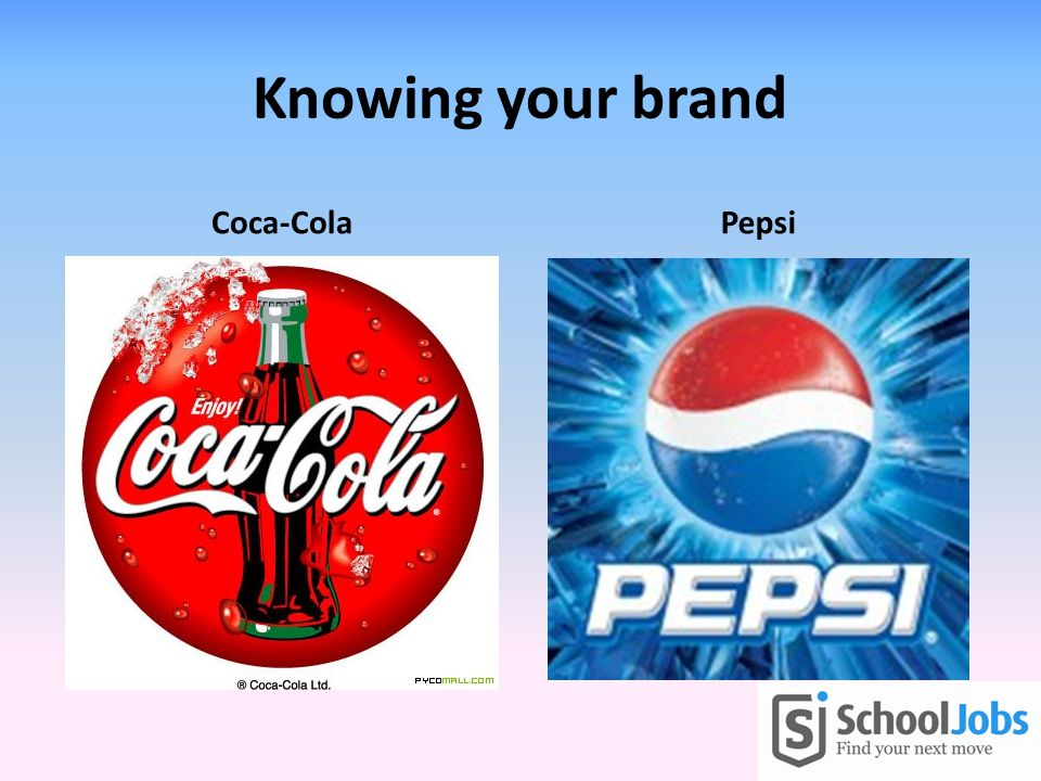 Knowing your brand Coca-ColaPepsi