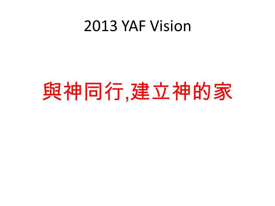 2013 YAF Vision 與神同行, 建立神的家
