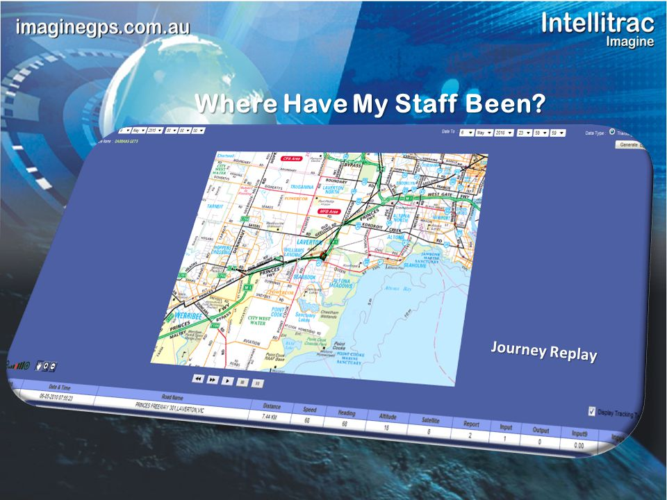 Stationary Time and Location Summary Journey Time & DIstance Quick Easy to Read Management Reports