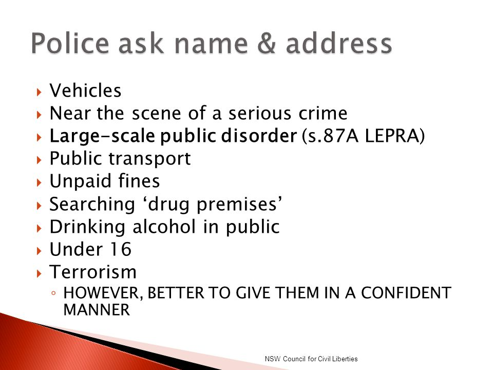  Police can use reasonable force to arrest you or stop you breaking the law  Capsicum spray  Tasers  Firearms NSW Council for Civil Liberties