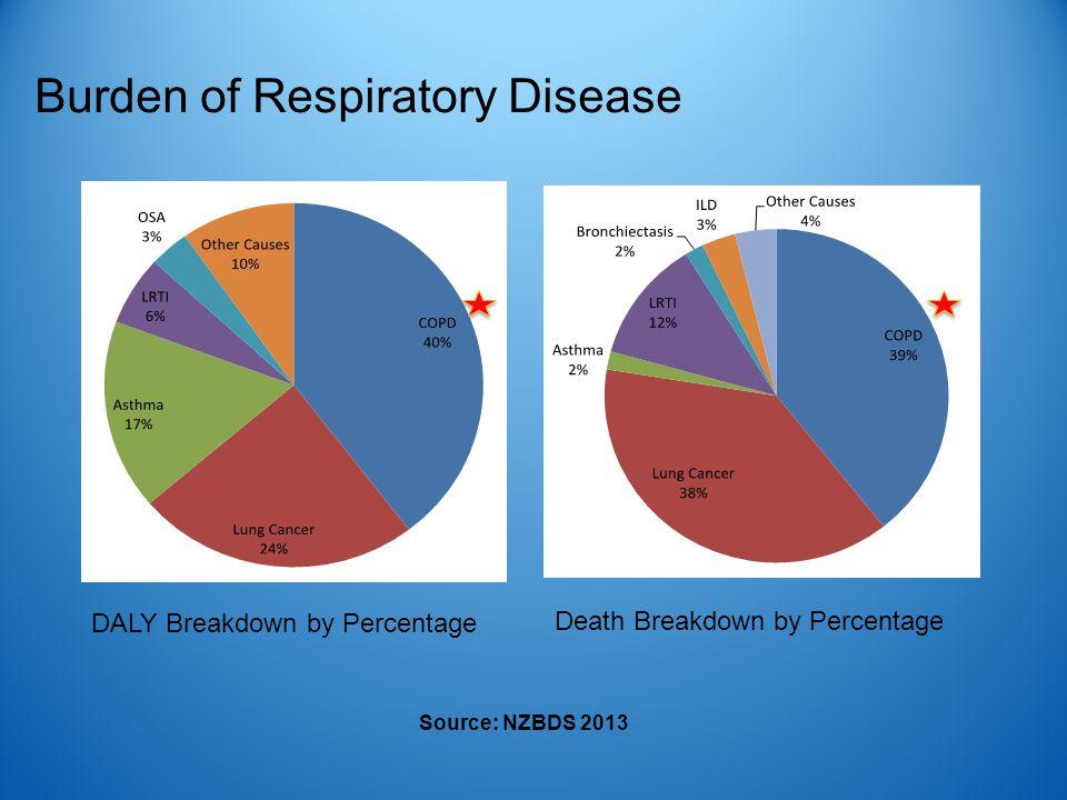 Source: NZBDS 2013 DALY Breakdown by Percentage Death Breakdown by Percentage