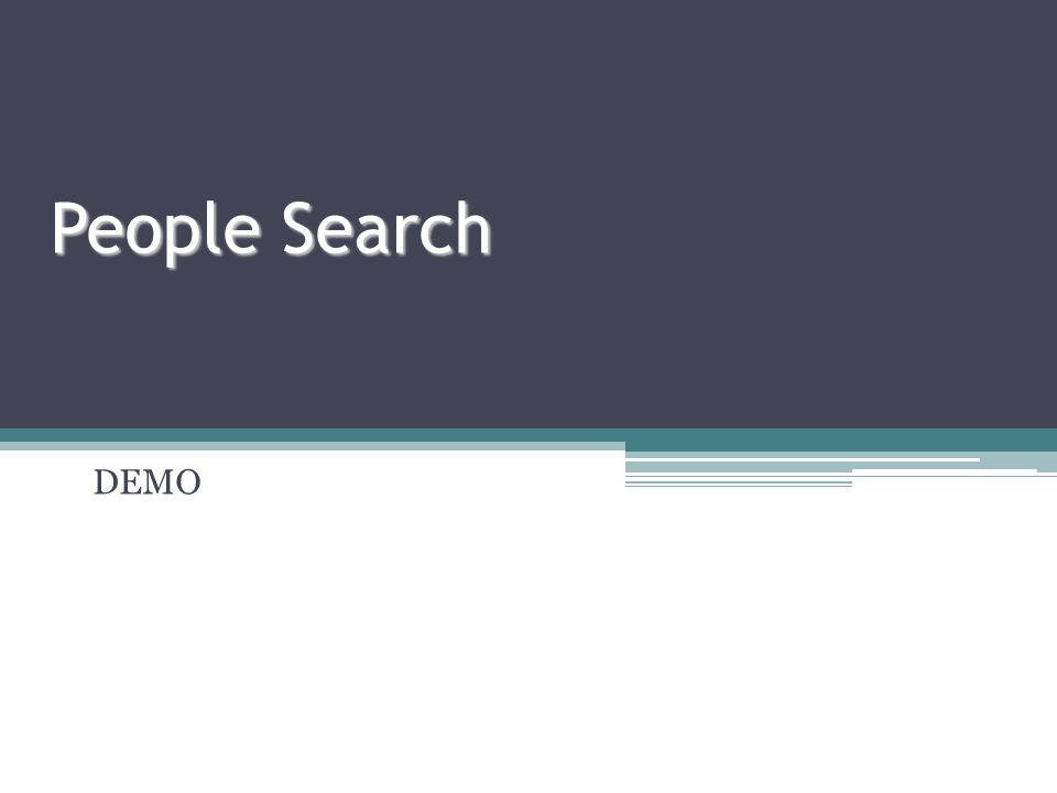 People Search DEMO