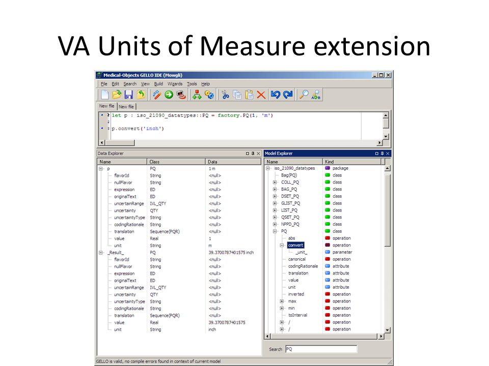 VA Units of Measure extension