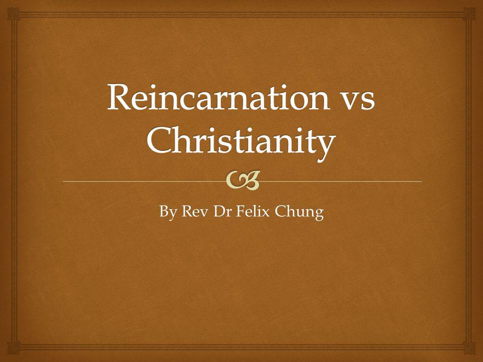By Rev Dr Felix Chung