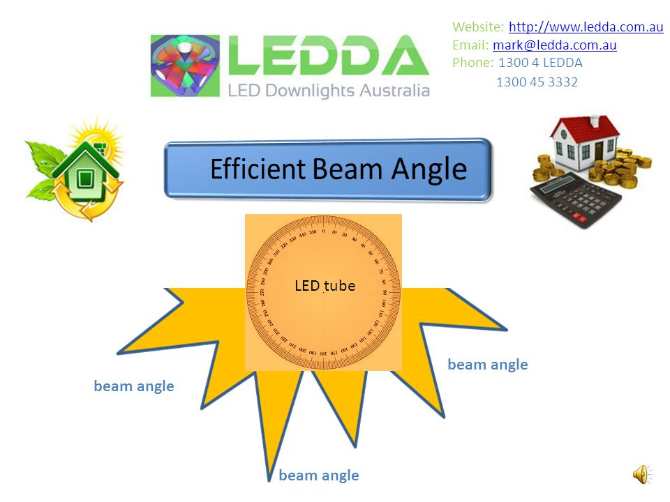 fluorescent beam angle