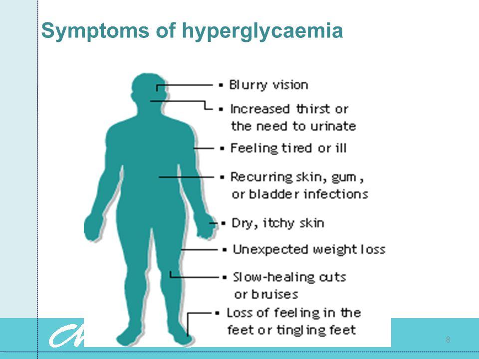 Symptoms of hyperglycaemia 8