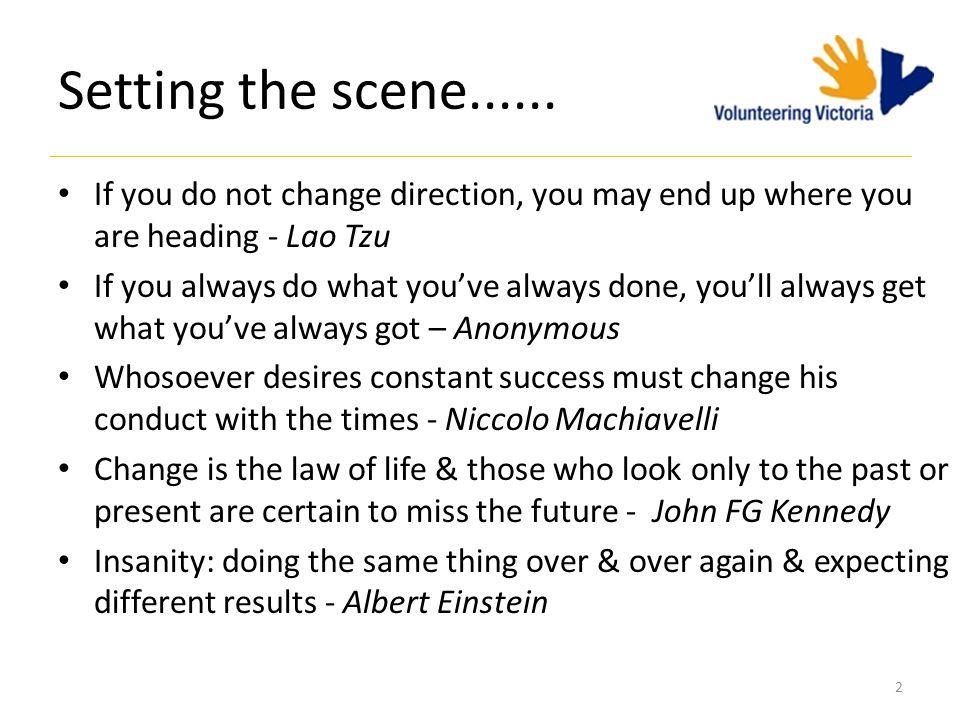 Setting the scene......