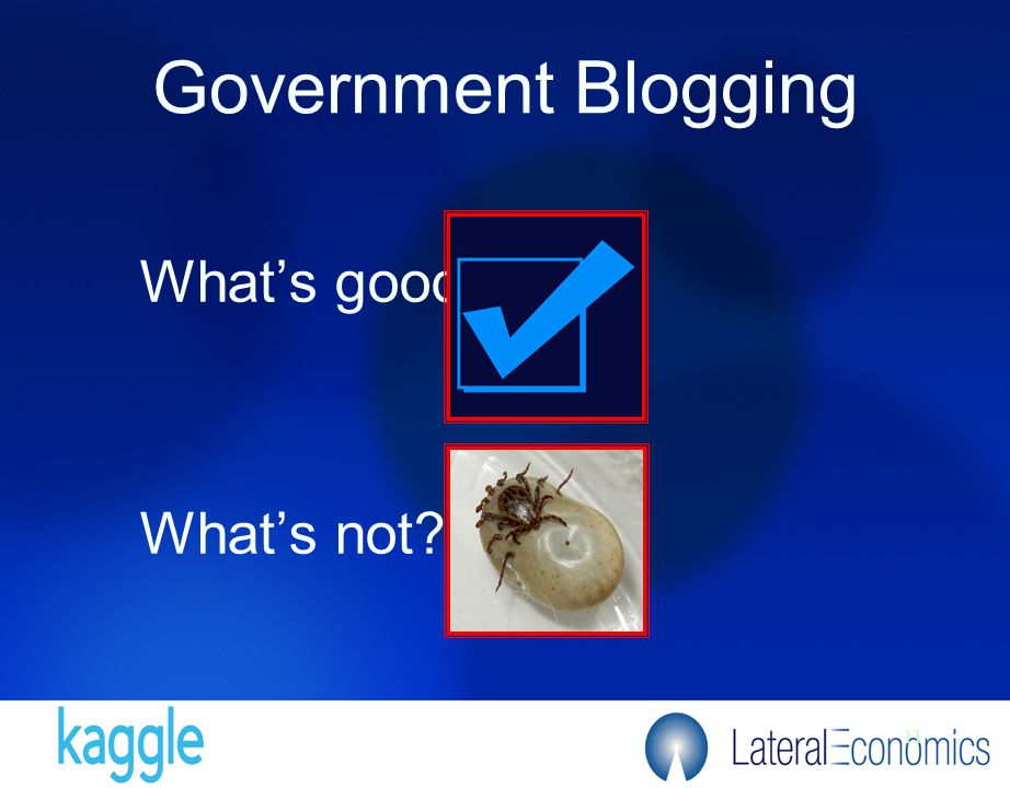 11 Government Blogging What's good What's not