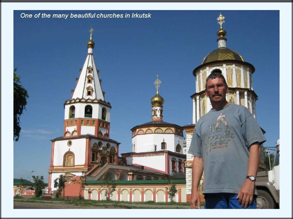 One of the many beautiful churches in Irkutsk
