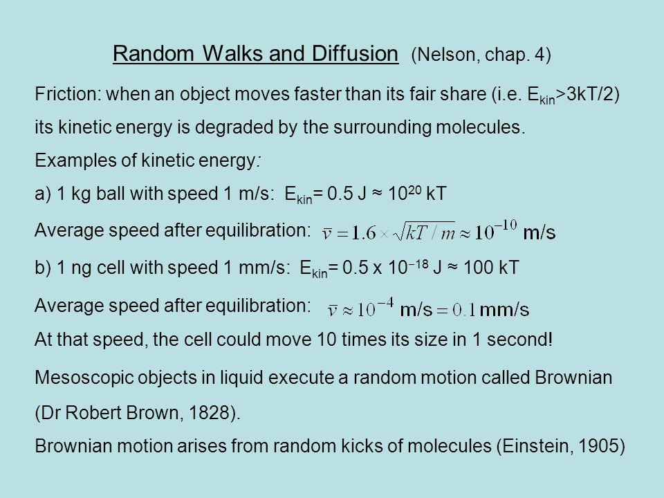 Random Walks and Diffusion (Nelson, chap.