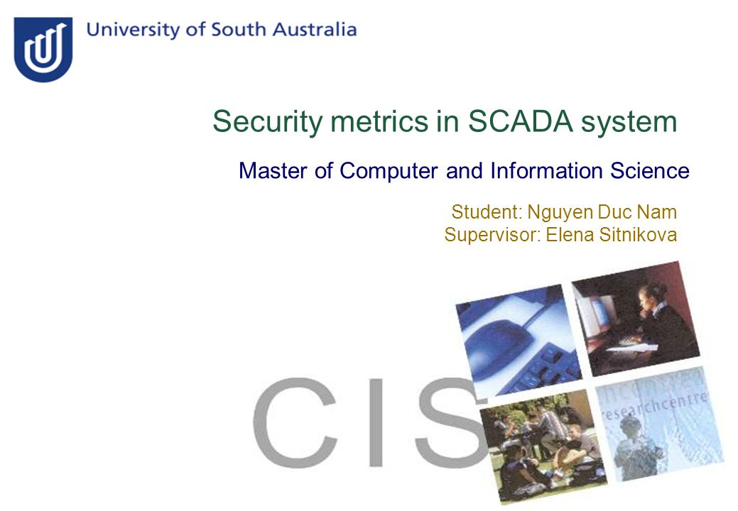 2 Introduction Thesis question SCADA system  Structure  Challenges Security metrics  Definition  Broad classes of metrics  Security metrics in SCADA Conclusion