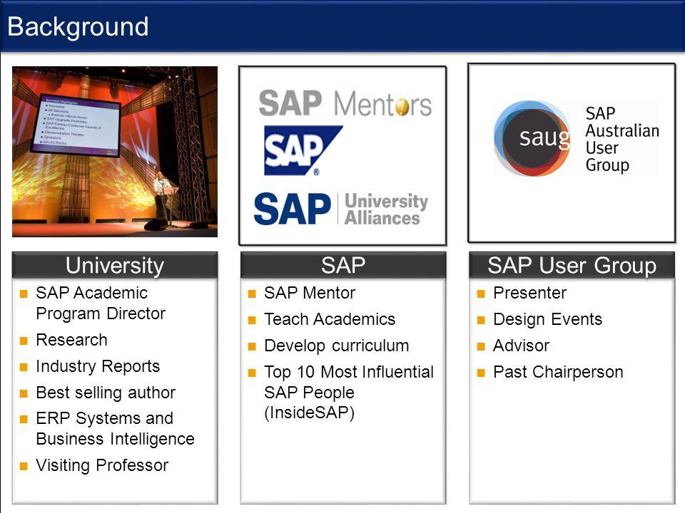 @ V ictoria U niversity SAP Update And Strategy SAP University Alliance Program (UAP) SAP Academic Program Director Research Industry Reports Best sel