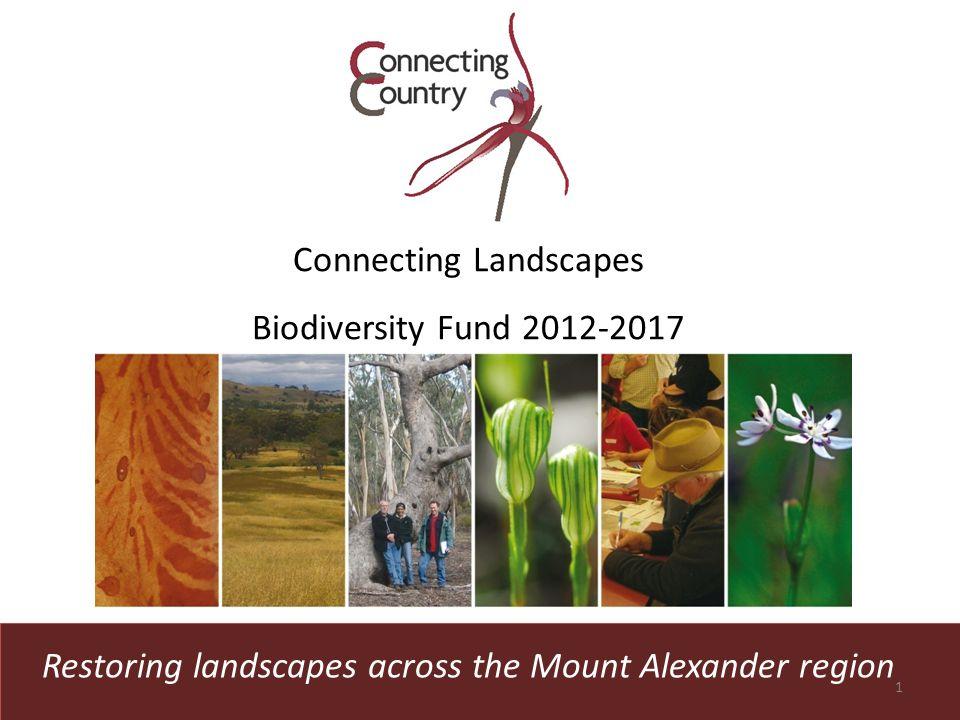 Restoring landscapes across the Mount Alexander region Connecting Landscapes Biodiversity Fund 2012-2017 1