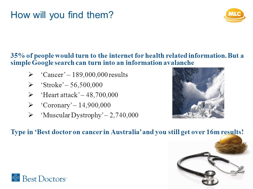 35% of people would turn to the internet for health related information.