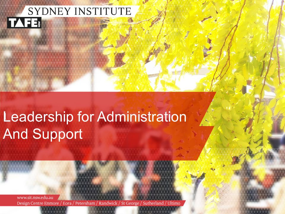 Leadership for Administration And Support 1