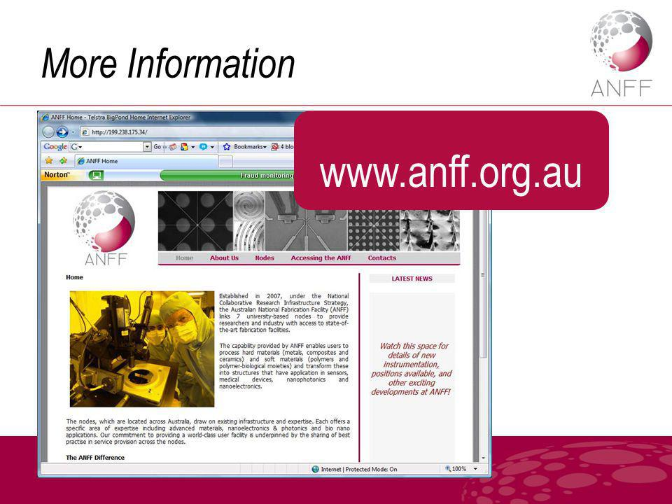 More Information www.anff.org.au