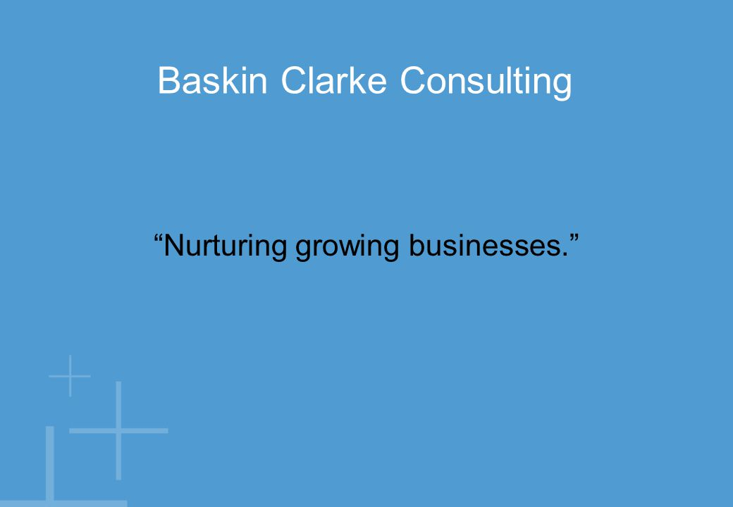 Nurturing growing businesses. Baskin Clarke Consulting