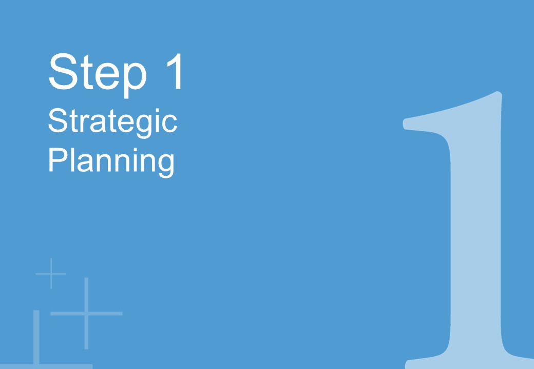 Step 1 Strategic Planning