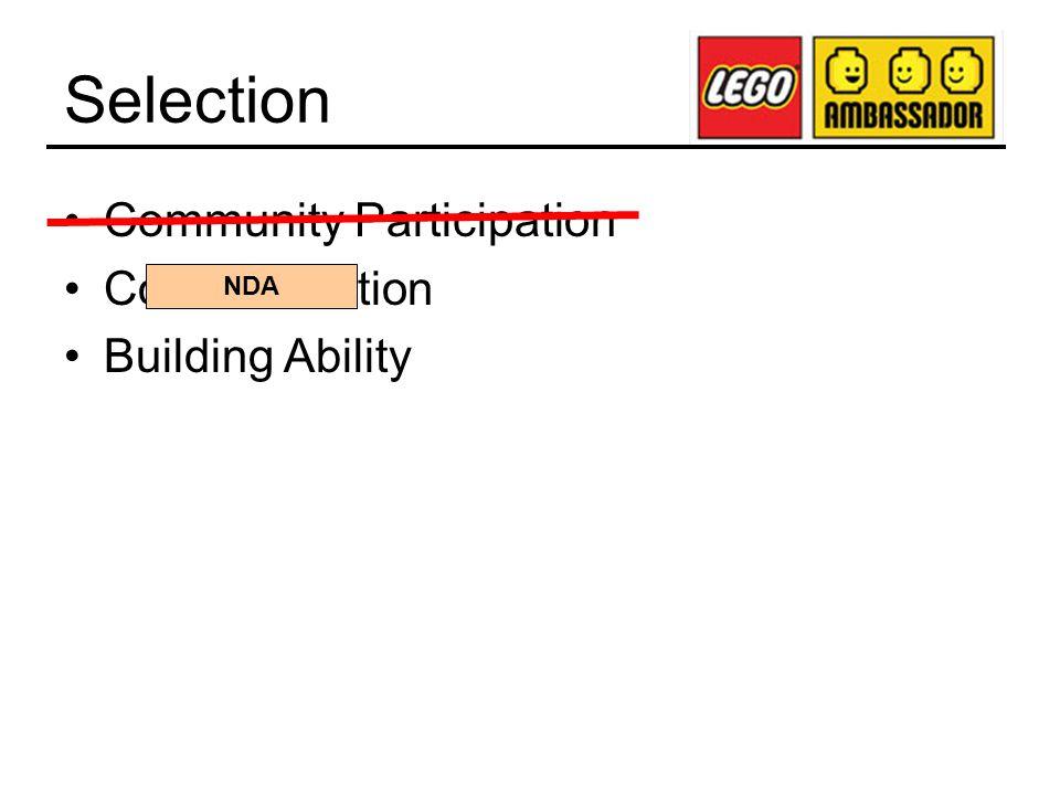 Selection Community Participation Communication Building Ability NDA