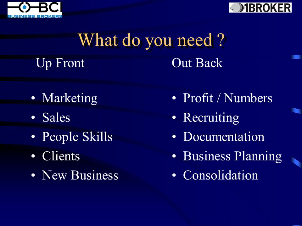 Keys for Success Preparation for Sale Transferability Systems Timing Brand Trust