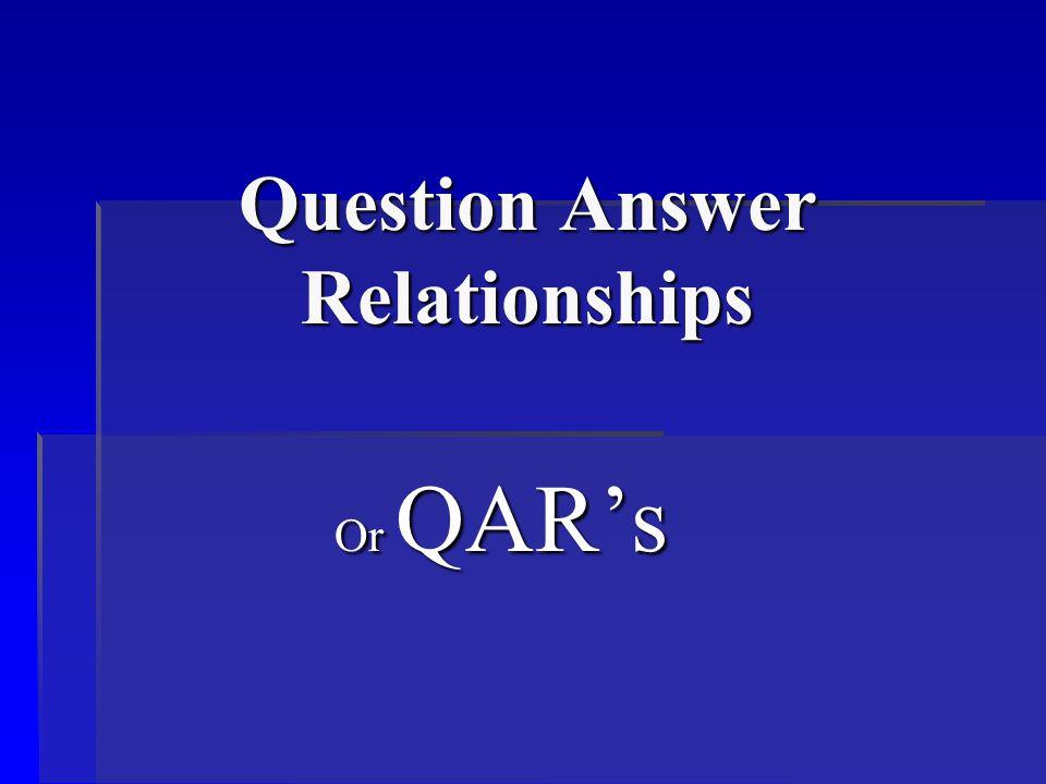 What is QAR's.