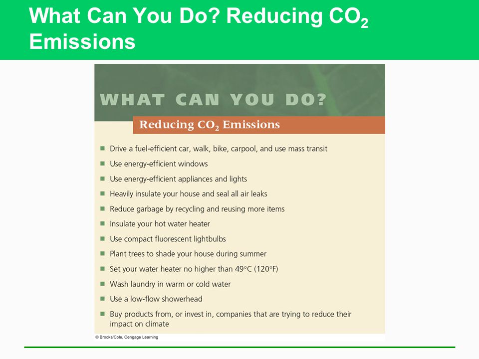 What Can You Do? Reducing CO 2 Emissions