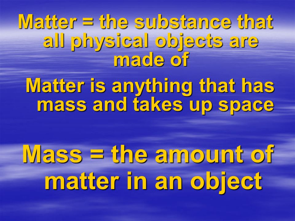 So what is the actual difference between mass and weight.