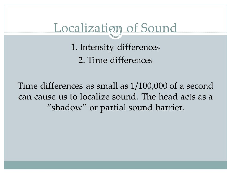 Hearing Loss 77 Conduction Hearing Loss: Hearing loss caused by damage to the mechanical system that conducts sound waves to the cochlea.