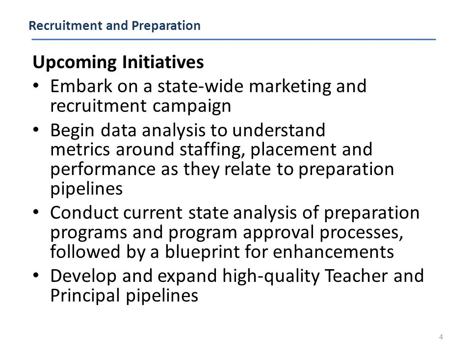 Licensure and Certification Upcoming Initiatives Determine correlation between current Certification tests and educator effectiveness Ensure that the preparation programs, licensure requirements and teacher evaluation processes are all integrated Review the current 3-tiered licensure system and timelines for receiving/maintaining certification 5 Alignment to teacher/leader preparation programs must occur; NJPSA Recommendation for Principal Evaluation Dec 2011