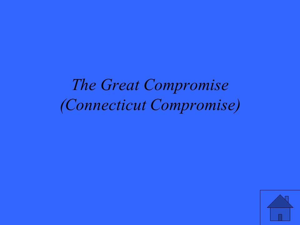 The Great Compromise (Connecticut Compromise)