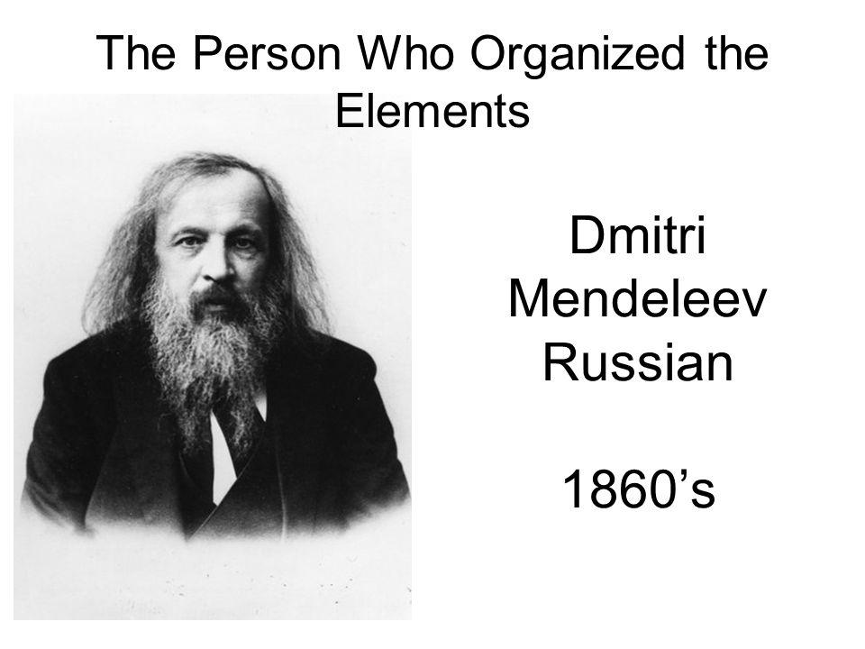 Mendeleev Teacher at St.Petersburg University.