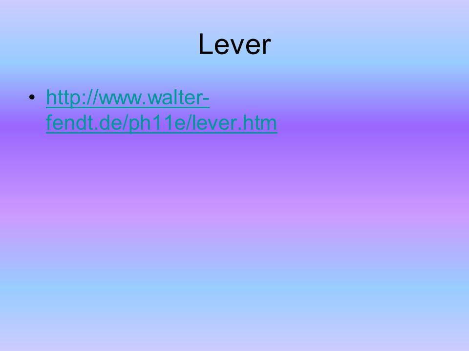 Lever http://www.walter- fendt.de/ph11e/lever.htmhttp://www.walter- fendt.de/ph11e/lever.htm