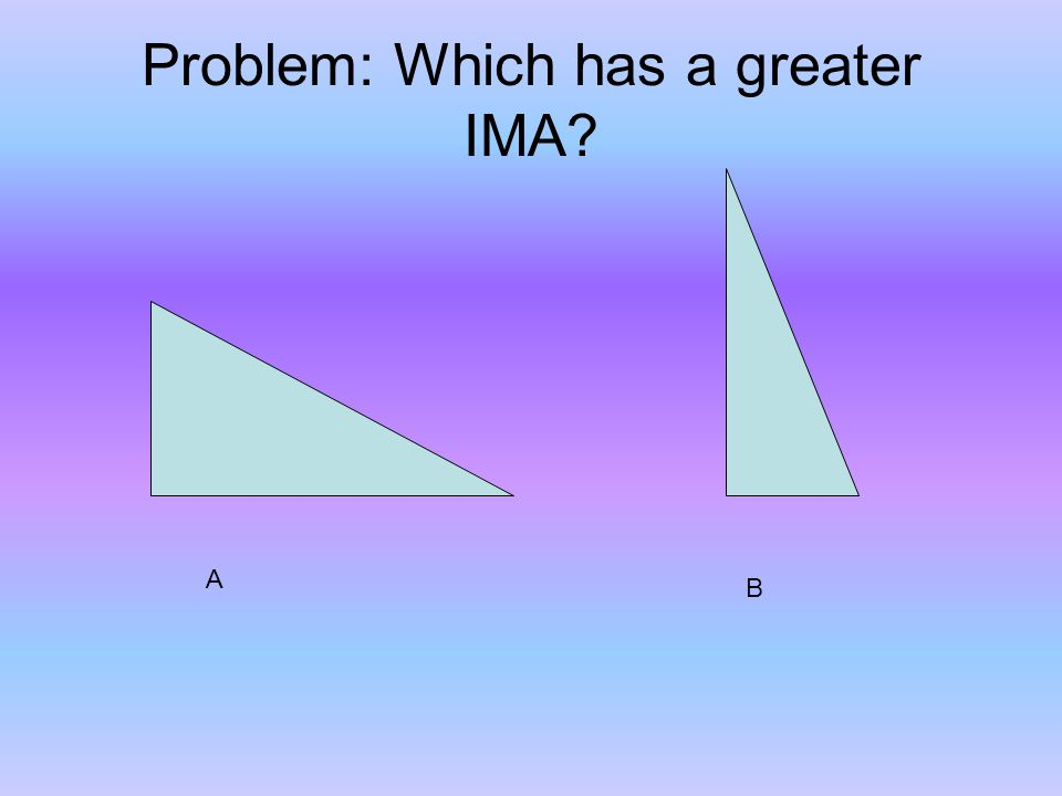 Problem: Which has a greater IMA A B