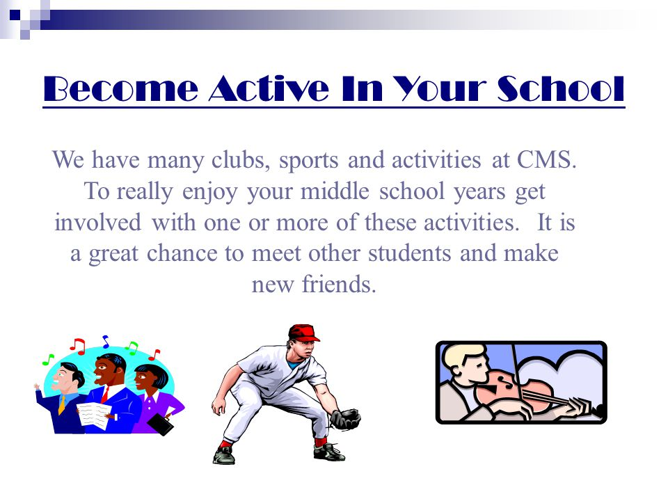 Your passport to success at CMS respect yourself and others not sure of the rules, ask questions come prepared for class do your homework study for tests and quizzes get involved in sports, clubs and activities