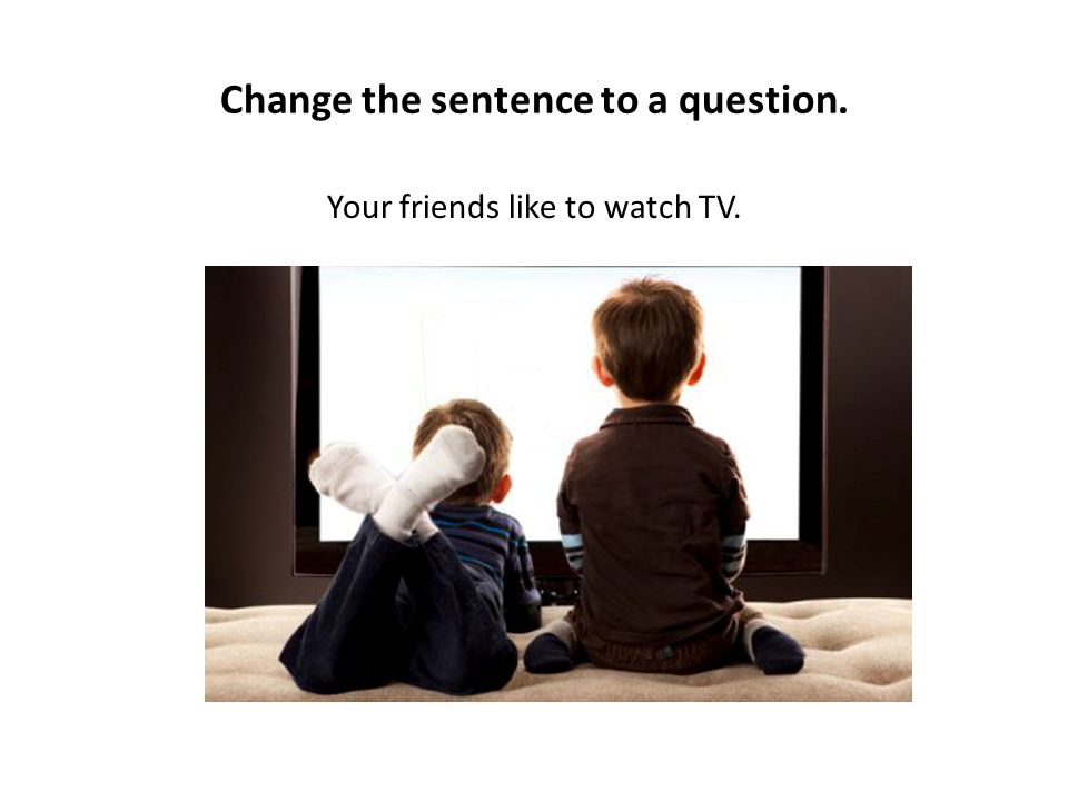 Change the sentence to a question. Your friends like to watch TV.