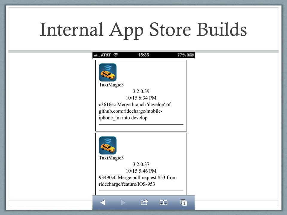 Internal App Store Builds