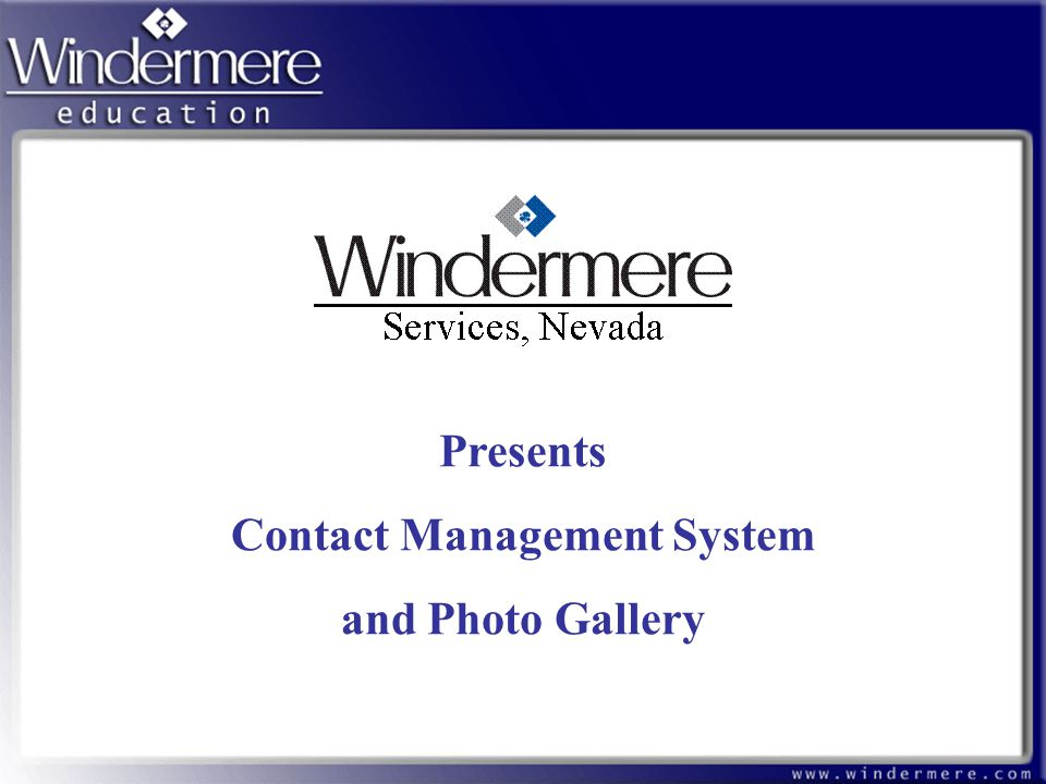 Presents Contact Management System and Photo Gallery