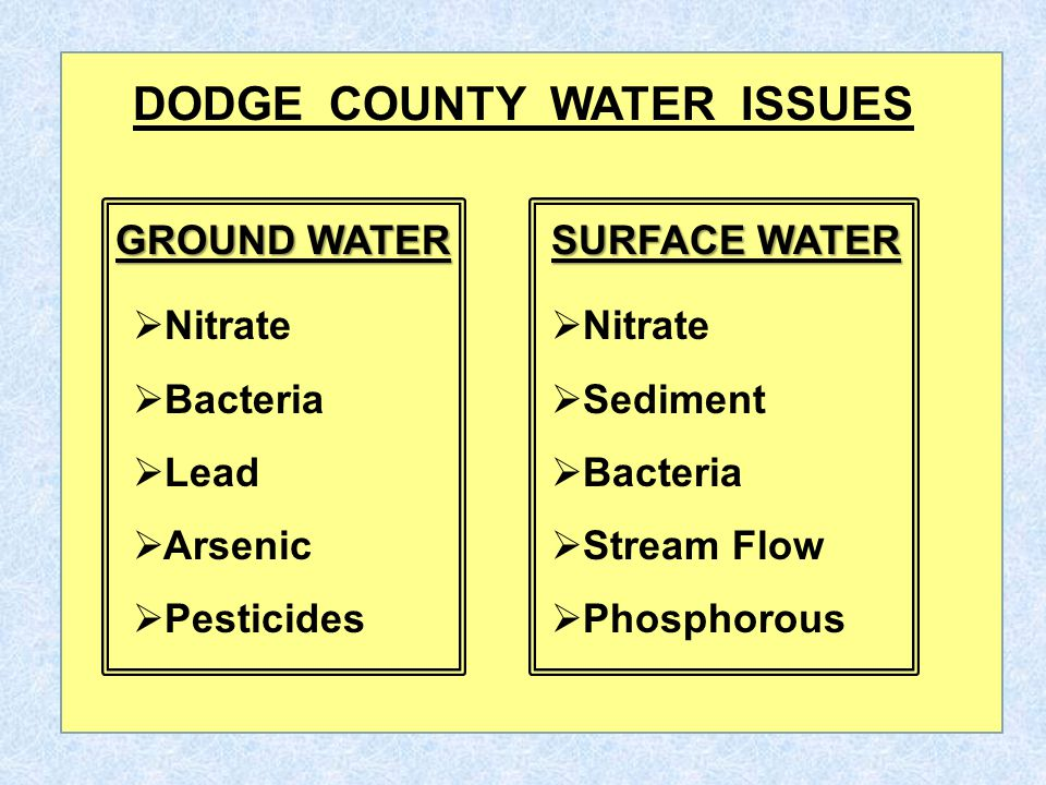 To better understand ground water, it's important to visualize the rock layers, most of which serve as drinking water aquifers, which exist under Dodge County, moving from deepest to shallowest.