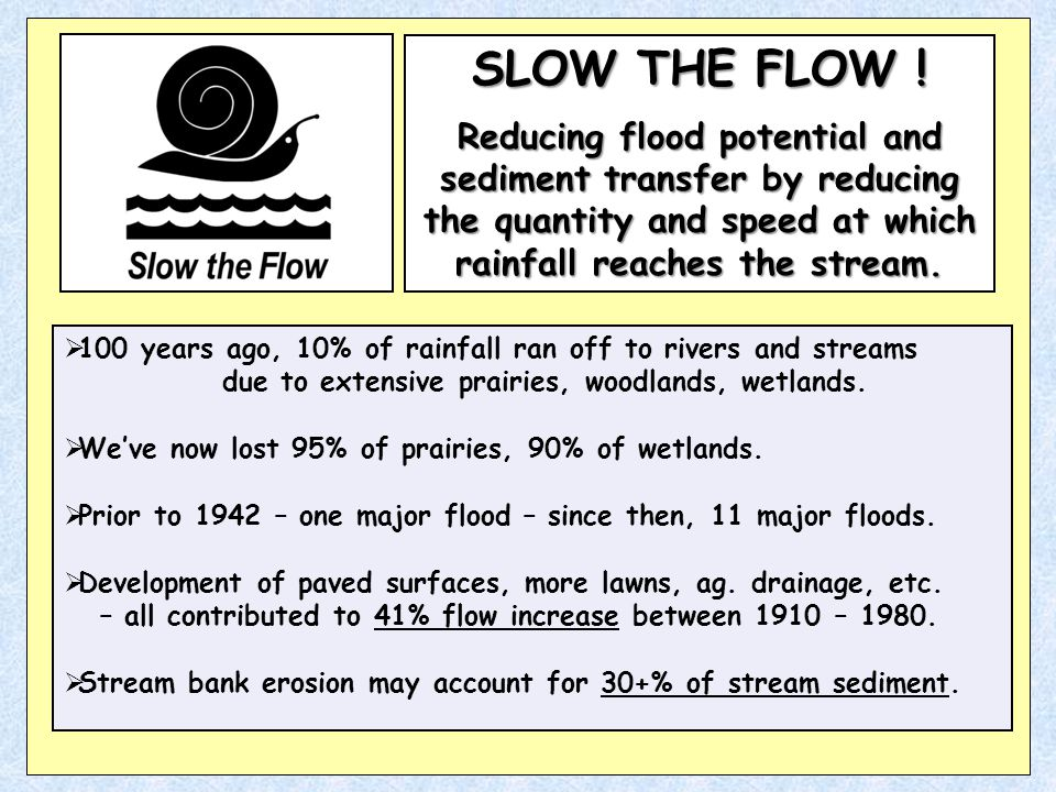 SLOW THE FLOW .