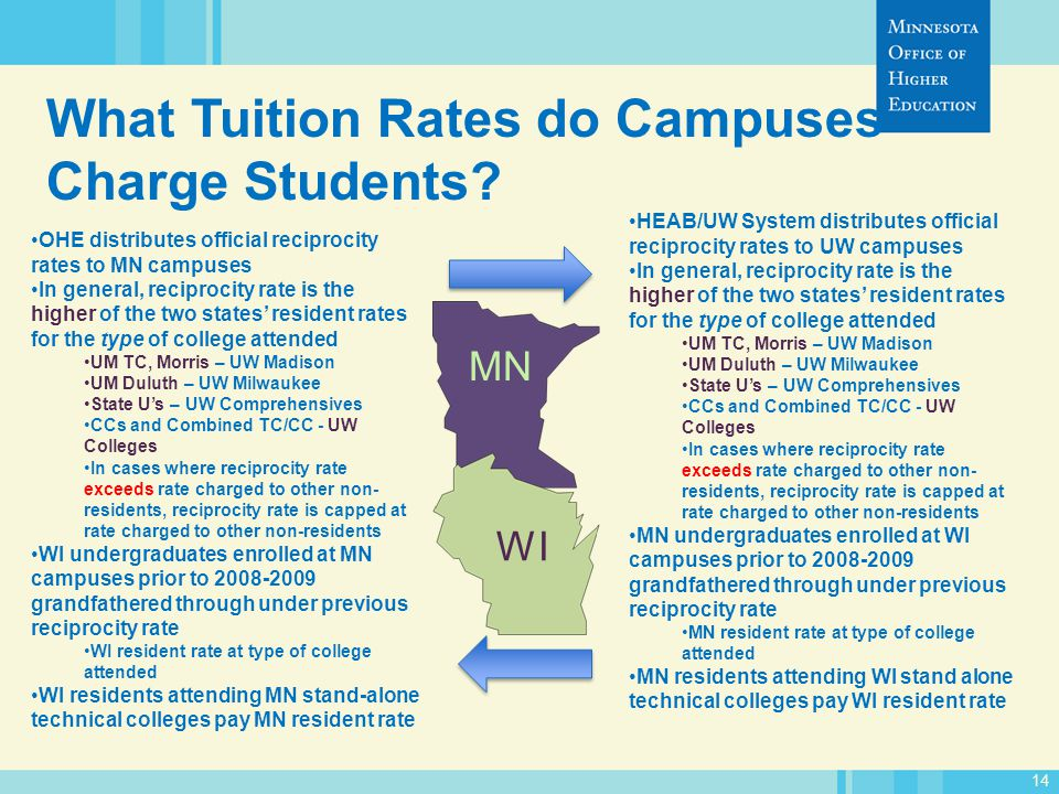 14 What Tuition Rates do Campuses Charge Students.