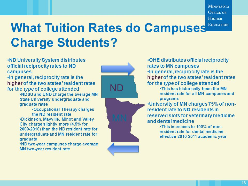16 What Tuition Rates do Campuses Charge Students.