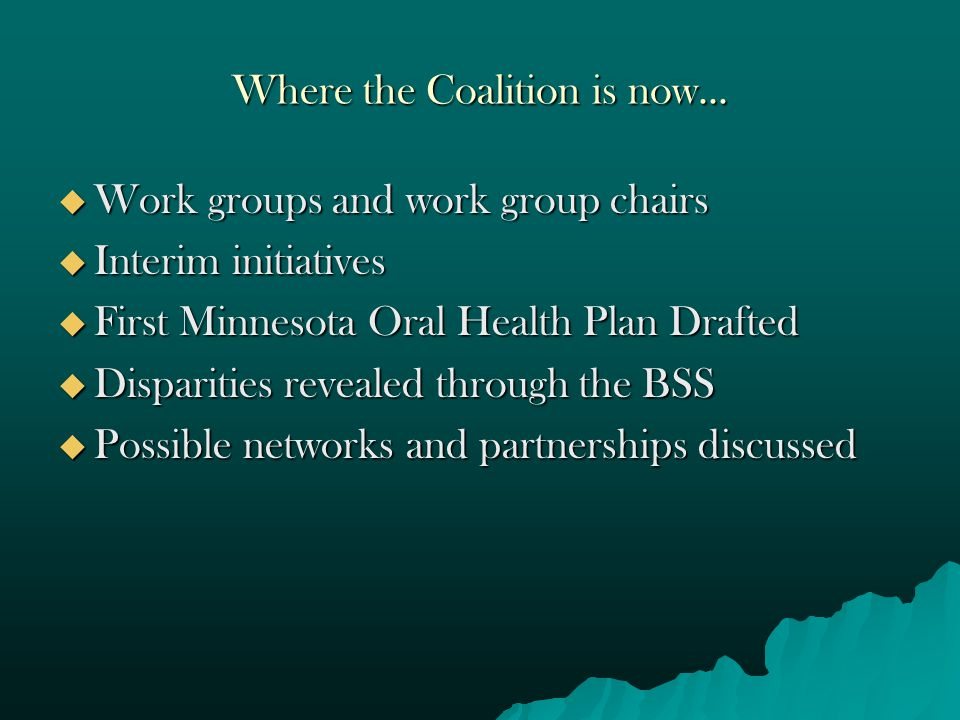 Option 2 Steering Committee Chair/Vice Chair Committee Chairs Coalition Coordinator Education & Prevention Committee Chair/Vice chair Workforce Committee Chair/Vice Chair Coalition Members Access to Care Committee Chair/Vice Chair MDH (ex-officio ) Research Committee Chair/Vice Chair Policy Committee