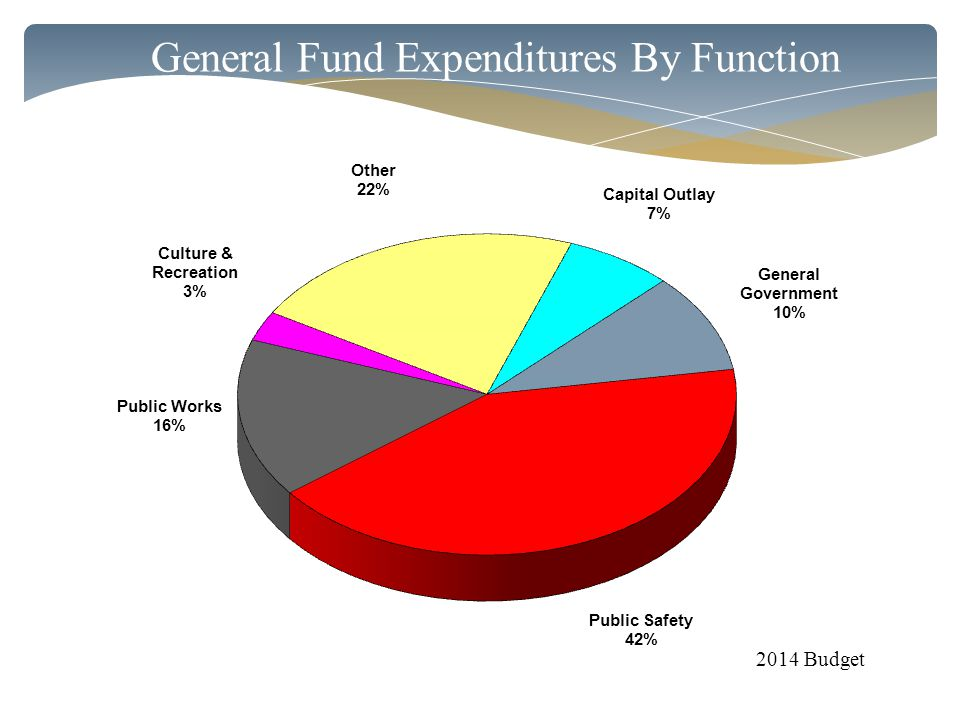 General Fund Expenditures By Function 2014 Budget