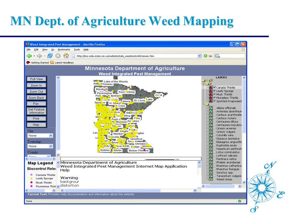 MN Dept. of Agriculture Weed Mapping